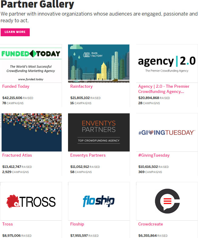 Indiegogo's Best Marketing and Video Agencies Screenshot