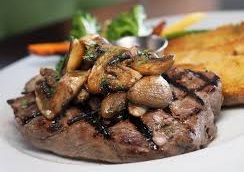 Steak with Mushrooms